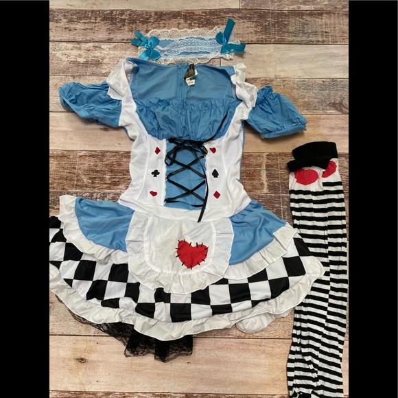 Leg Avenue Alice in Wonderland sexy costume size M